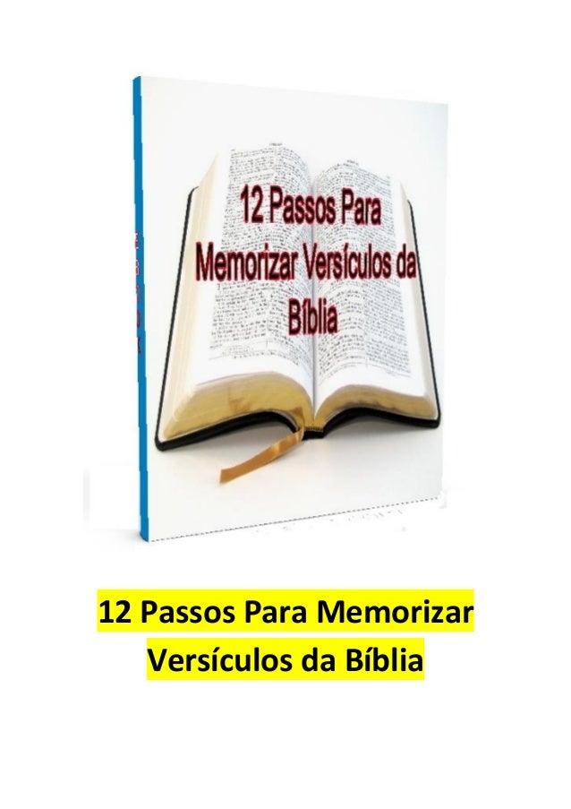 12 Passos Para Memorizar Versículos da Bíblia