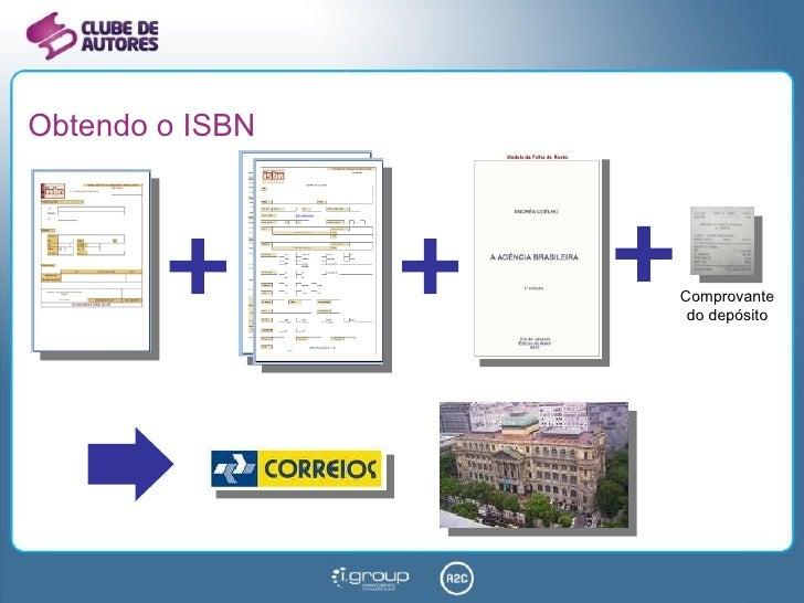 Obtendo o ISBN Comprovante do depósito