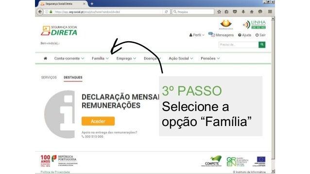 """3º PASSO Selecione a opção """"Família"""""""