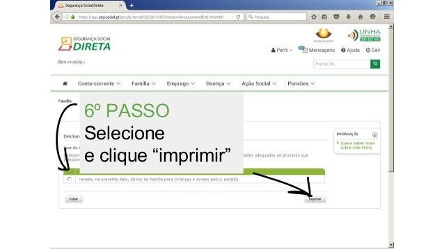 """6º PASSO Selecione e clique """"imprimir"""""""