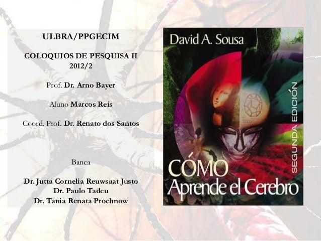 ULBRA/PPGECIMCOLOQUIOS DE PESQUISA II        2012/2      Prof. Dr. Arno Bayer       Aluno Marcos ReisCoord. Prof. Dr. Rena...
