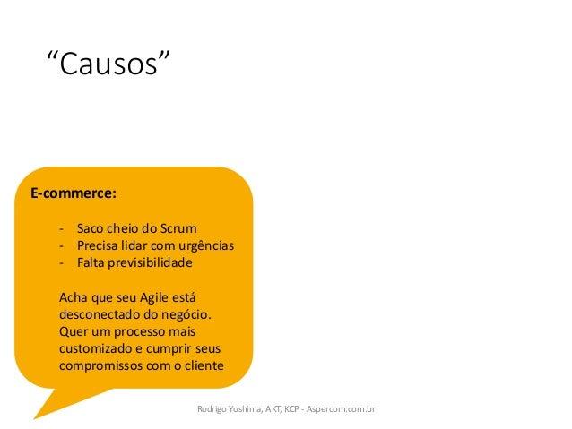 """""""Causos"""" RodrigoYoshima,AKT,KCP- Aspercom.com.br E-commerce: - Sacocheio doScrum - Precisa lidar comurgências - Fal..."""