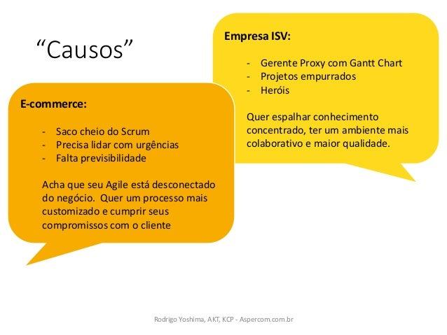 """""""Causos"""" RodrigoYoshima,AKT,KCP- Aspercom.com.br Empresa ISV: - Gerente ProxycomGanttChart - Projetos empurrados - ..."""