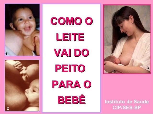 COMO O    LEITE1   VAI DO    PEITO                     3    PARA O    BEBÊ     Instituto de Saúde2               CIP/SES-SP