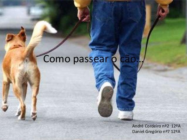 Como passear o cão… André Cordeiro nº2 12ºA Daniel Gregório nº7 12ºA