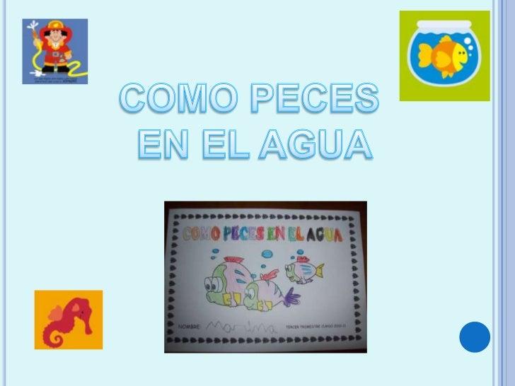 COMO PECES<br /> EN EL AGUA<br />