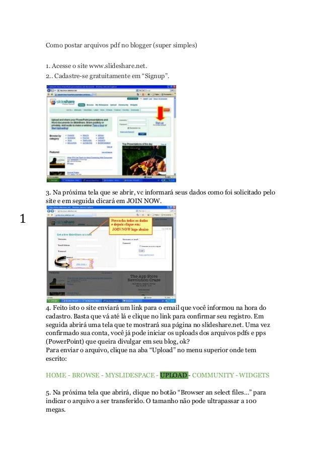 how to upload pdf in blogger