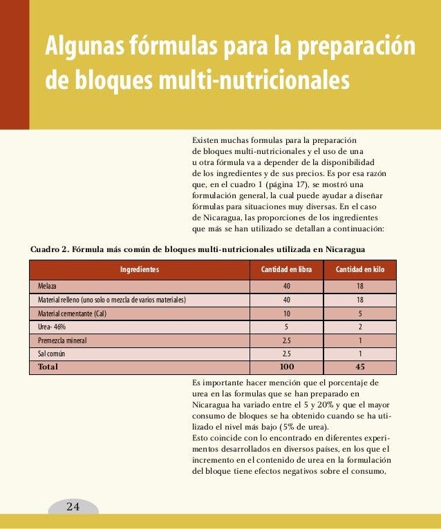 Como Preparar Bloques Nutricionales
