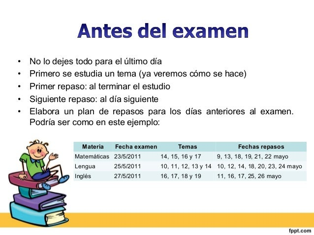 Como preparar examenes Slide 3