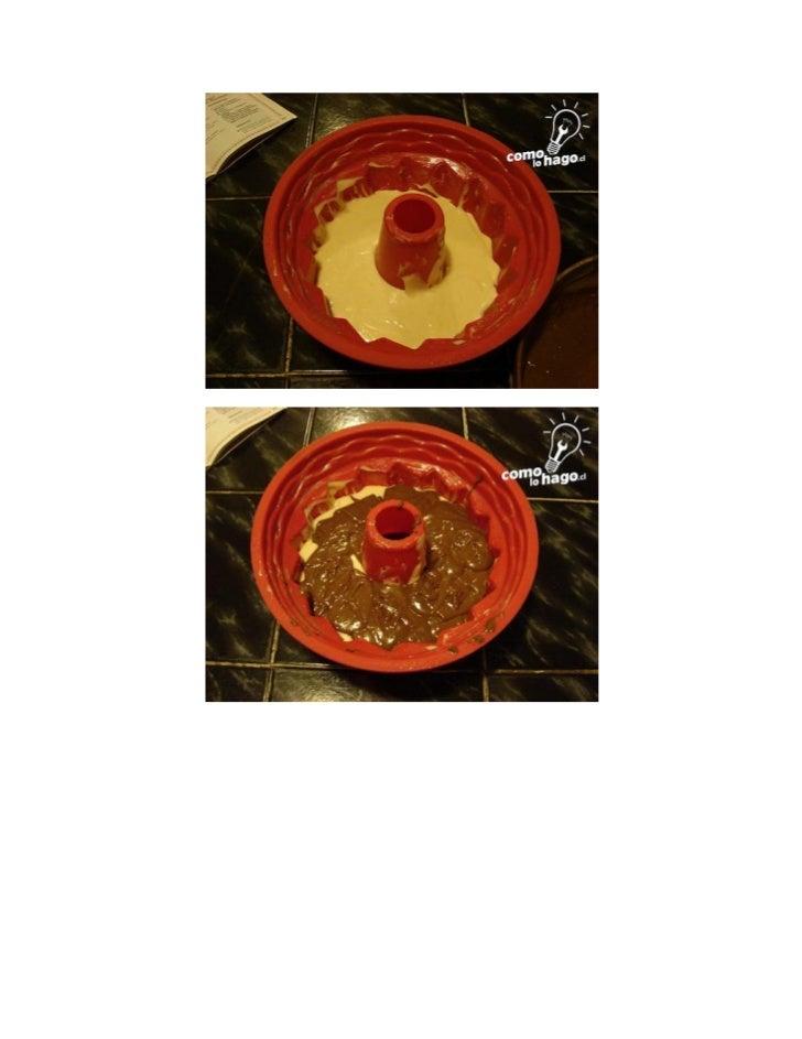 Finalmente cocine en un horno a 180º por aproximadamente 50-60 min aprox.Luego de los 50-60 min esperamos a que se enfrie ...
