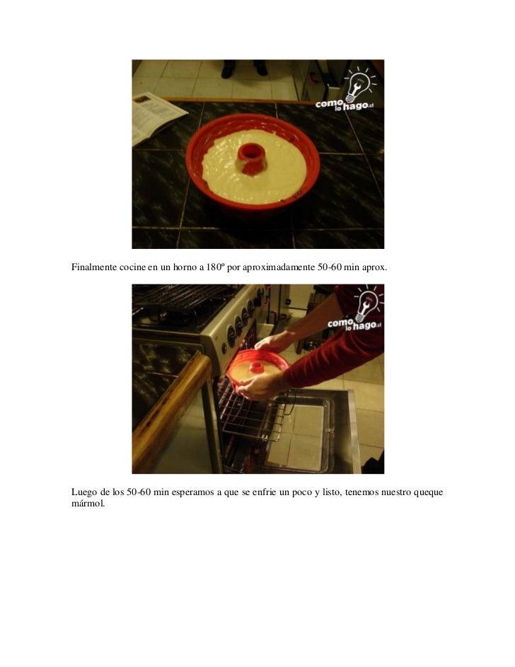 Como preparar un queque mármol