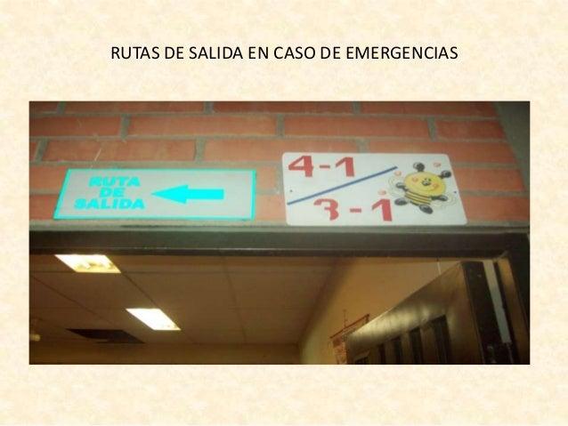 RUTAS DE SALIDA EN CASO DE EMERGENCIAS