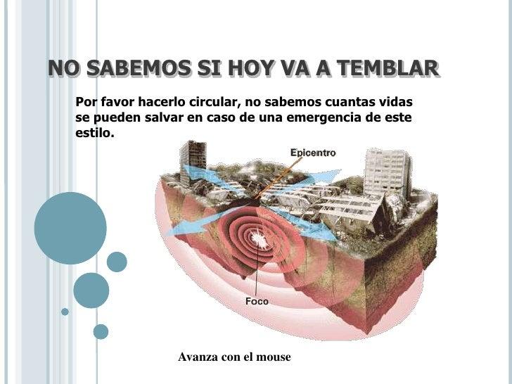 Como prevenir un terremoto for Que se puede cocinar hoy