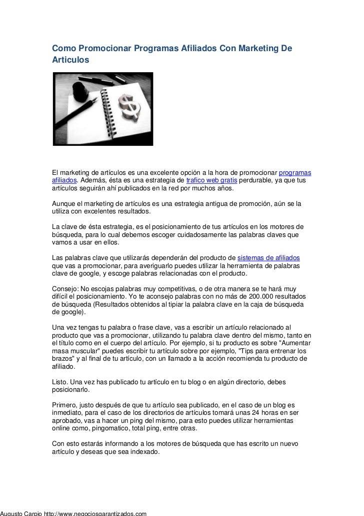 174bc1c643ed Como Promocionar Programas Afiliados Con Marketing De Articulos ...