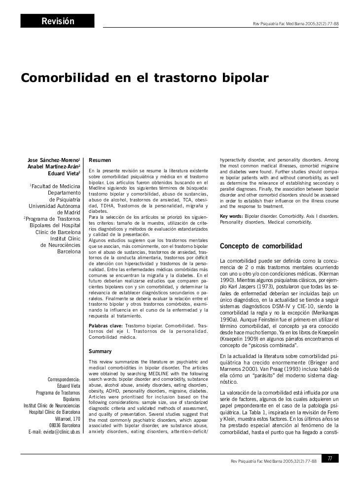 RevisiónJ. Sánchez Moreno, A. Martínez Arán, E. Vieta                                                                     ...