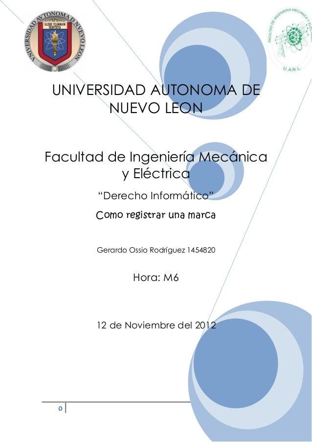 """UNIVERSIDAD AUTONOMA DE       NUEVO LEONFacultad de Ingeniería Mecánica           y Eléctrica       """"Derecho Informático"""" ..."""