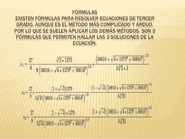 Como resolver ecuaciones de tercer grado lojano