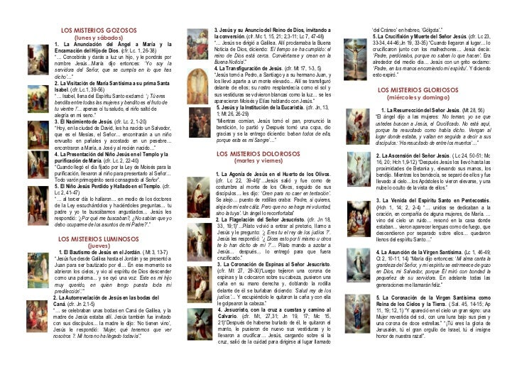 20 misterios del rosario yahoo dating 4