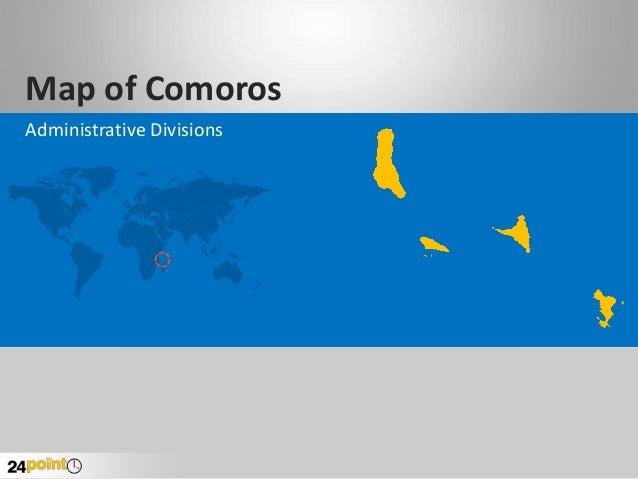 Map of Comoros Administrative Divisions
