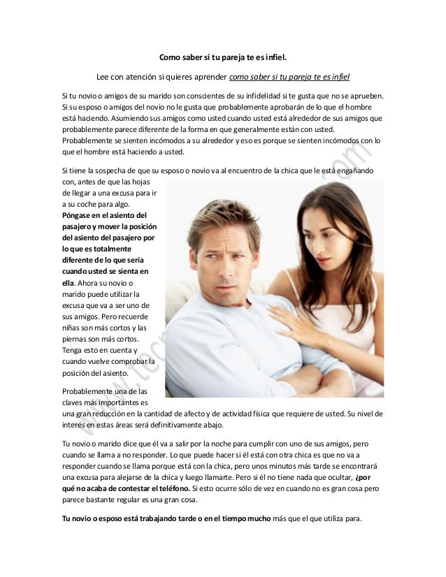 Como saber si tu pareja te es infiel dudas for Como saber si es marmol
