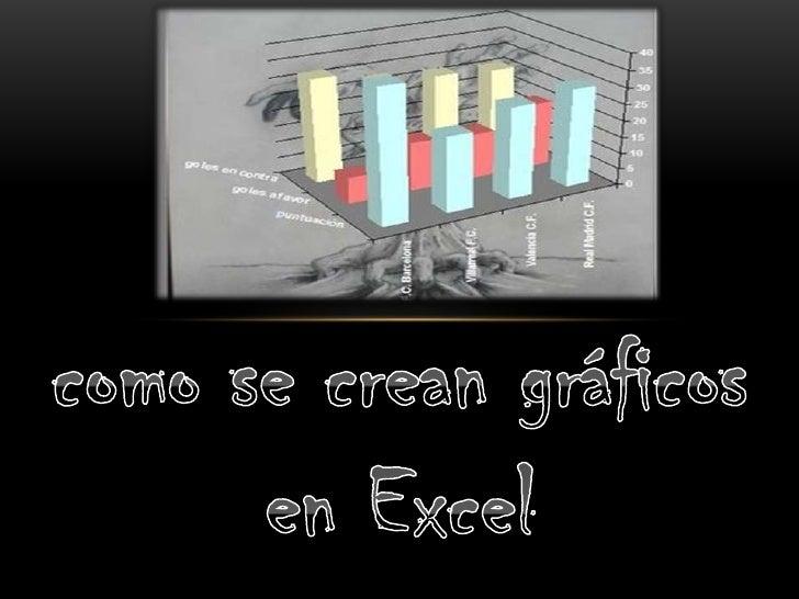 como se crean gráficos en Excel<br />