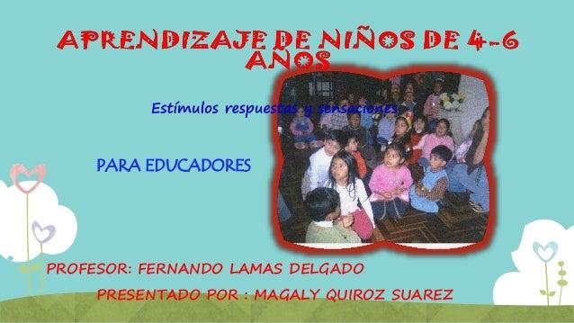 PROFESOR: FERNANDO LAMAS DELGADO PARA EDUCADORES PRESENTADO POR : MAGALY QUIROZ SUAREZ