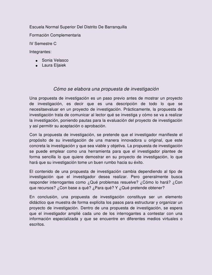Escuela Normal Superior Del Distrito De BarranquillaFormación ComplementariaIV Semestre CIntegrantes:      Sonia Velasco  ...
