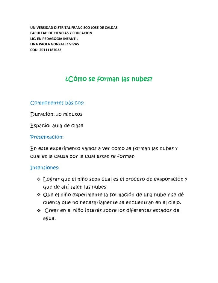 UNIVERSIDAD DISTRITAL FRANCISCO JOSE DE CALDASFACULTAD DE CIENCIAS Y EDUCACIONLIC. EN PEDAGOGIA INFANTILLINA PAOLA GONZALE...