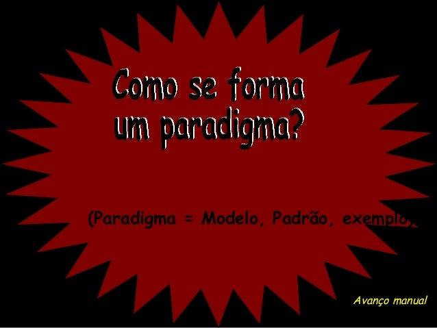 (Paradigma = Modelo, Padrão, exemplo)  Avanço manual