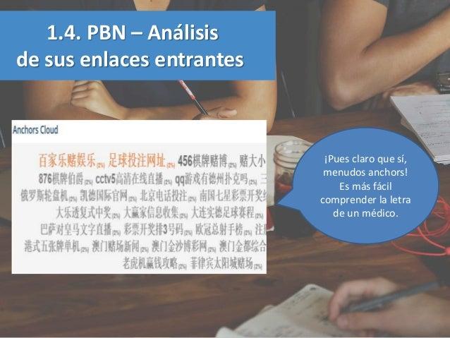 1.4. PBN – Análisis de sus enlaces entrantes ¡Pues claro que sí, menudos anchors! Es más fácil comprender la letra de un m...