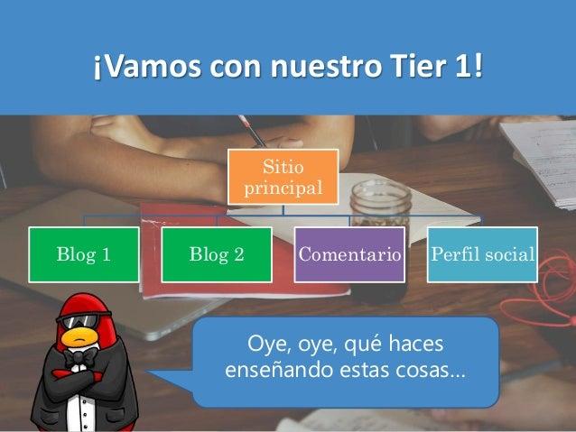 ¡Vamos con nuestro Tier 1! Sitio principal Blog 1 Blog 2 Comentario Perfil social Oye, oye, qué haces enseñando estas cosa...
