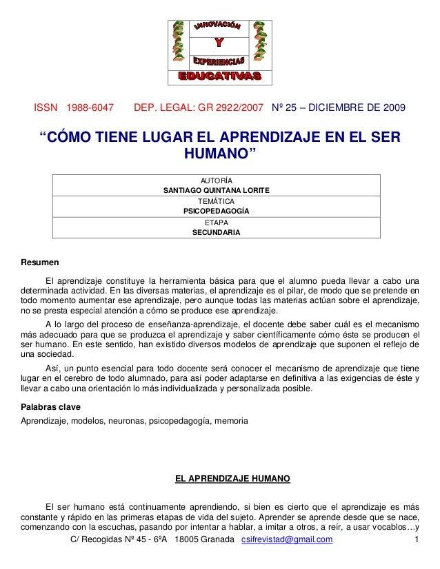 ISSN 1988-6047 DEP. LEGAL: GR 2922/2007 Nº 25 – DICIEMBRE DE 2009 C/ Recogidas Nº 45 - 6ºA 18005 Granada csifrevistad@gmai...