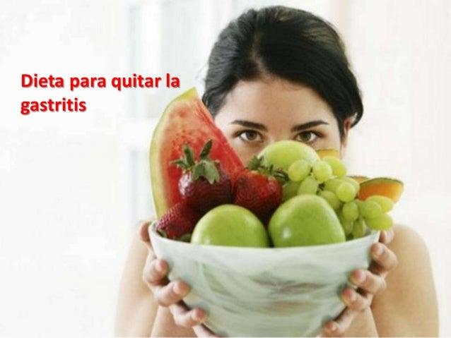 Como se quita la gastritis con una buena dieta!