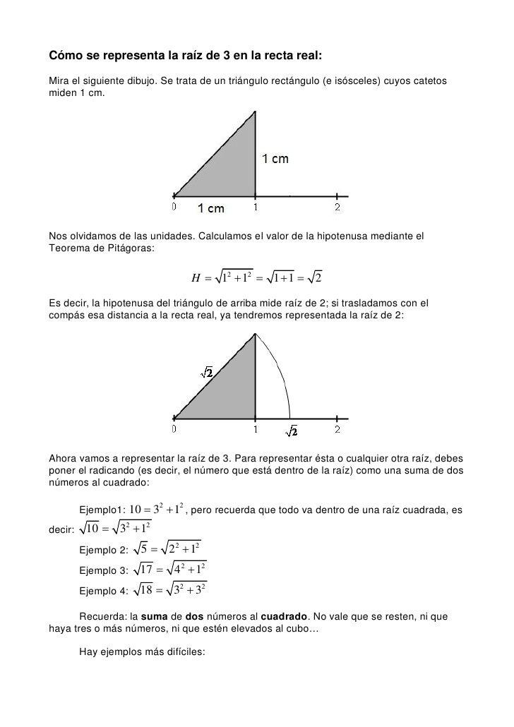 eb053a37b3e4 Cómo se representa la raíz de 3 en la recta real  Mira el siguiente dibujo  ...