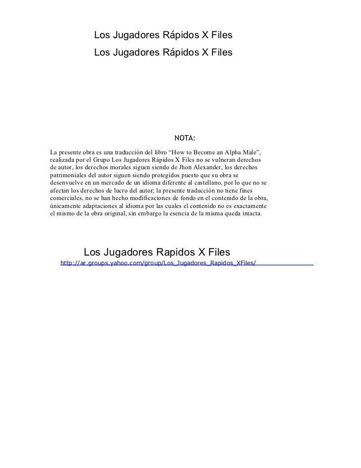 Los Jugadores Rápidos X Files                Los Jugadores Rápidos X Files                                             NOT...