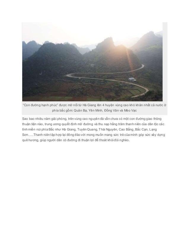 Con đường hạnh phúc ở Hà Giang Slide 2