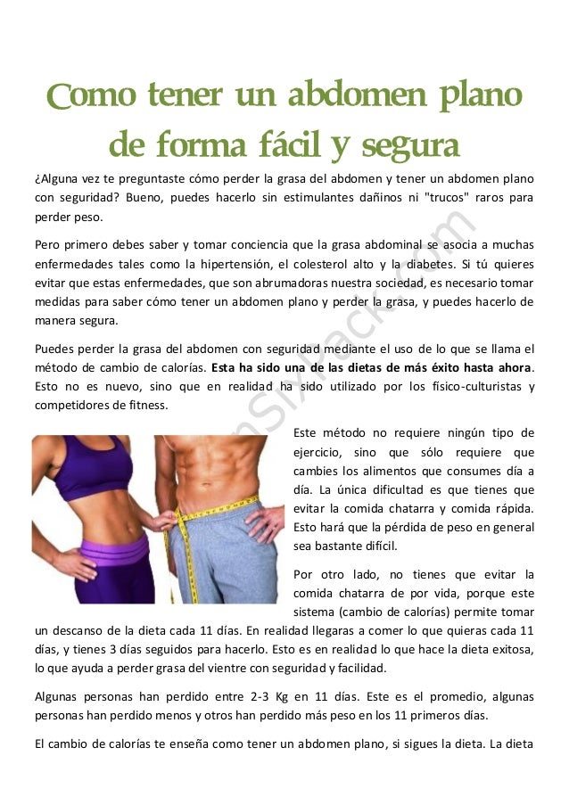 app para tener abdomen plano