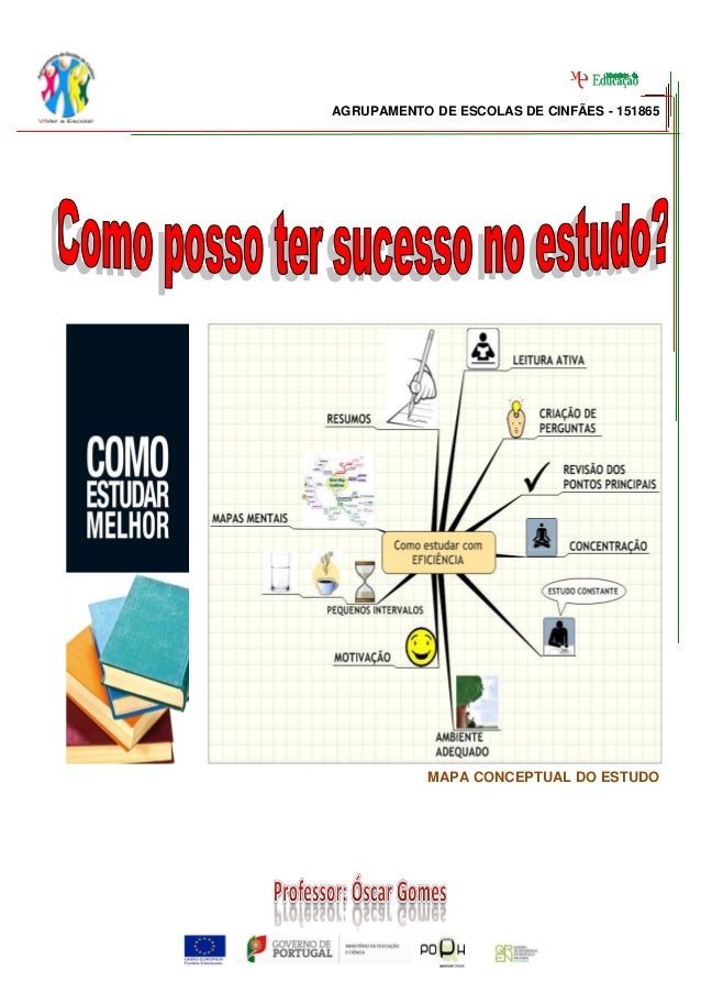 AGRUPAMENTO DE ESCOLAS DE CINFÃES - 151865            MAPA CONCEPTUAL DO ESTUDO