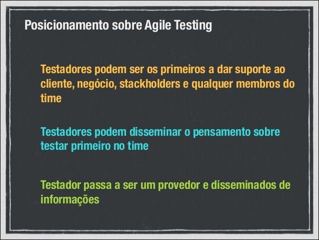 Como tornar o testador parte da equipe