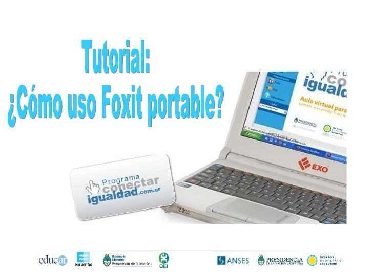 Tutorial: ¿Cómo uso Foxit portable?