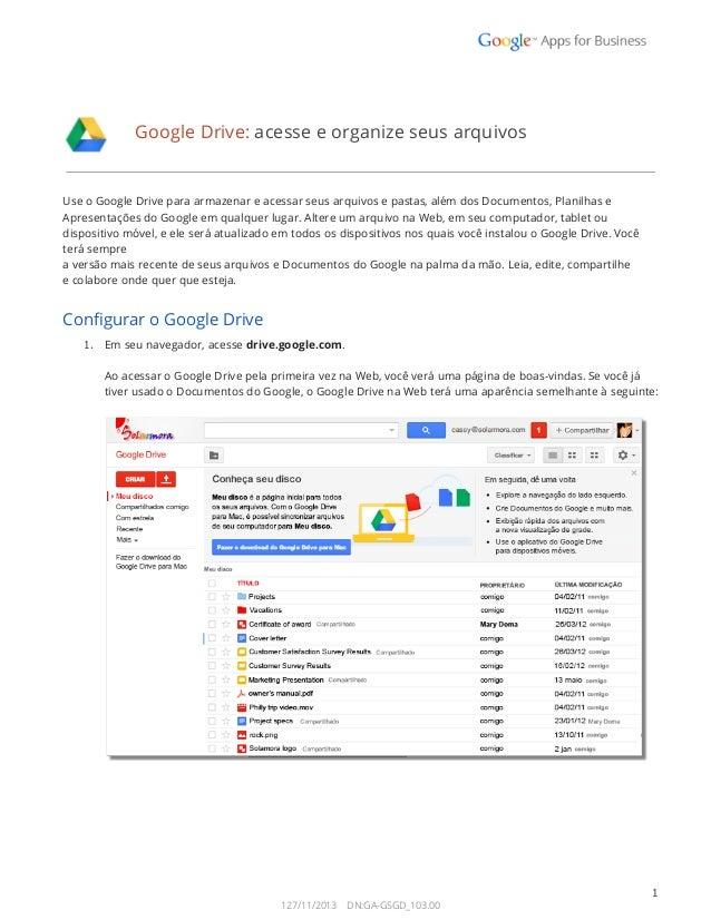 GoogleDrive:acesseeorganizeseusarquivos  UseoGoogleDriveparaarmazenareacessarseusarquivosepas...
