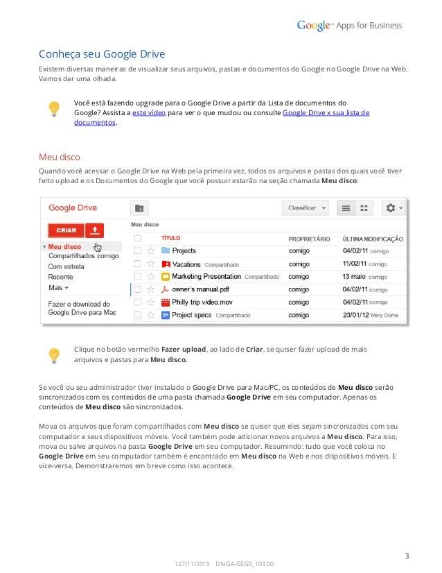 Como usar o google drive Slide 3
