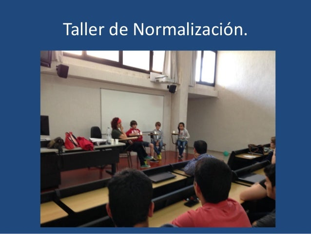 Taller de Normalización.
