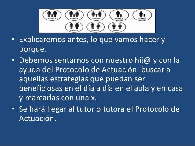 En el centro educativo… El tutor con la ayuda de el resto de sus compañeros, revisará el Protocolo de Actuación, para pode...