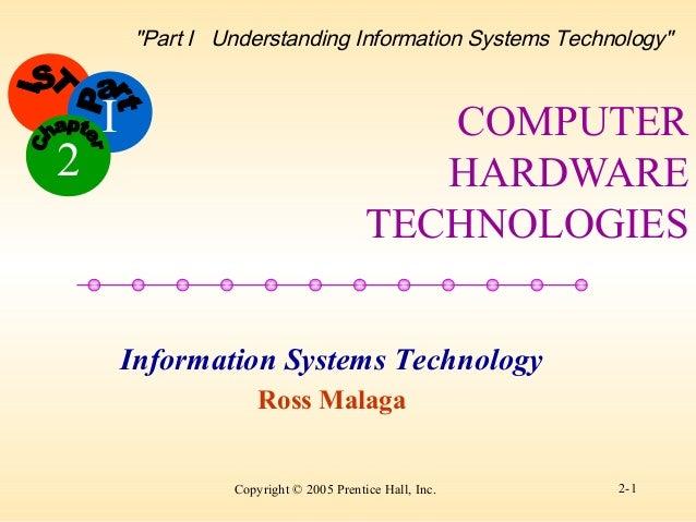 "I Copyright © 2005 Prentice Hall, Inc. 2-1 Information Systems Technology Ross Malaga 2 ""Part I Understanding Information ..."