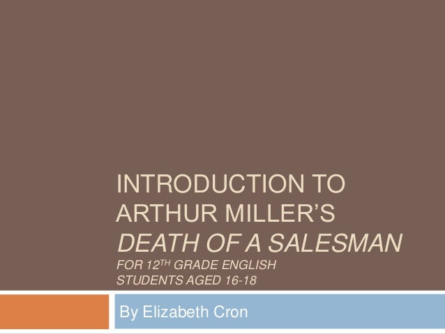 INTRODUCTION TOARTHUR MILLER'SDEATH OF A SALESMANFOR 12TH GRADE ENGLISHSTUDENTS AGED 16-18By Elizabeth Cron