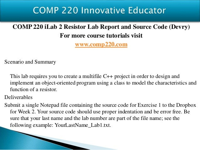 COMP 220 Complete Course
