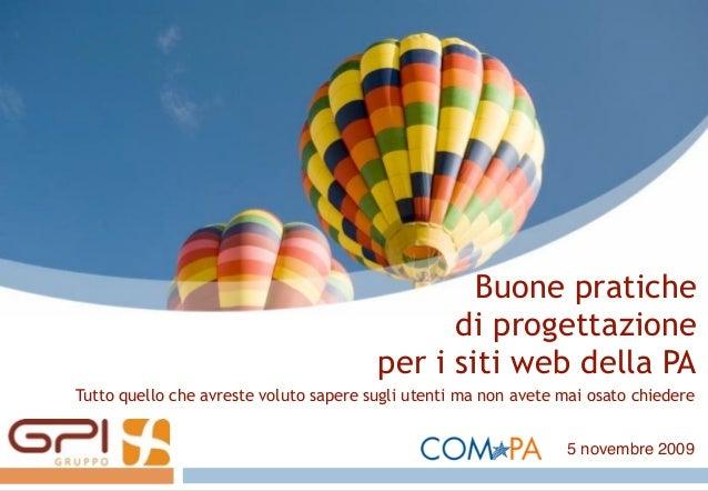 Buone pratiche di progettazione per i siti web della pa for Siti web della casa