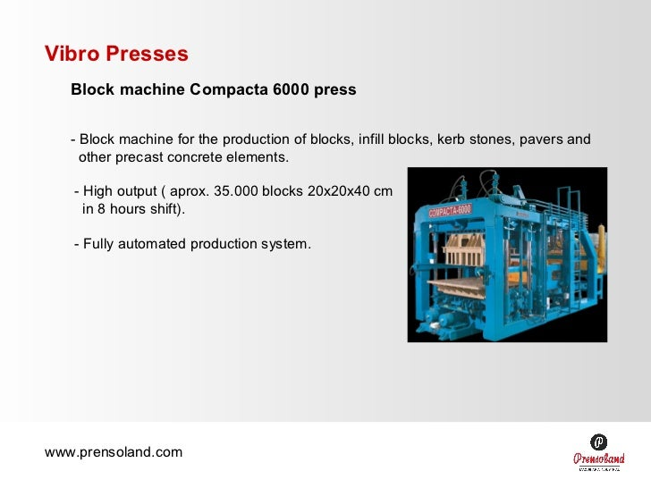 Block making machine - Compacta
