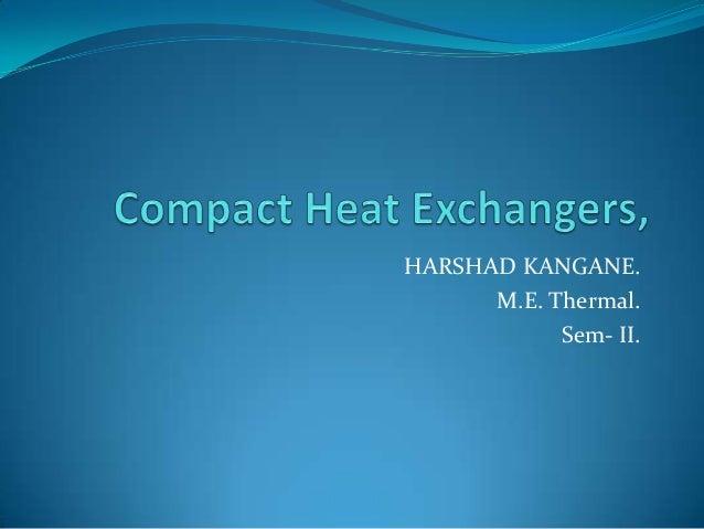 HARSHAD KANGANE.M.E. Thermal.Sem- II.